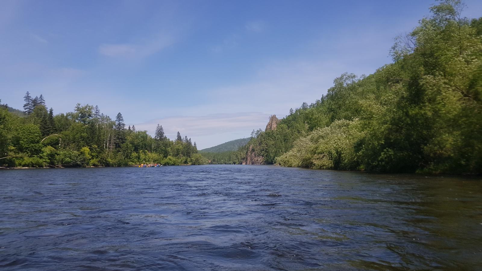 Сплав по реке Гур к поселку Уктур